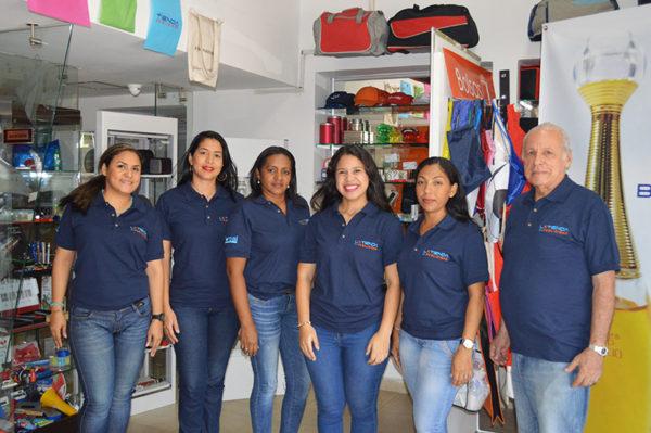 equipo de trabajo tienda publicidad promocionales